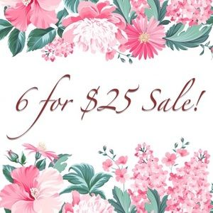 $5 items with a 🎀 are now 6 for $25!